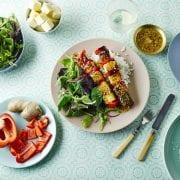 Vegetarian bbq skewers