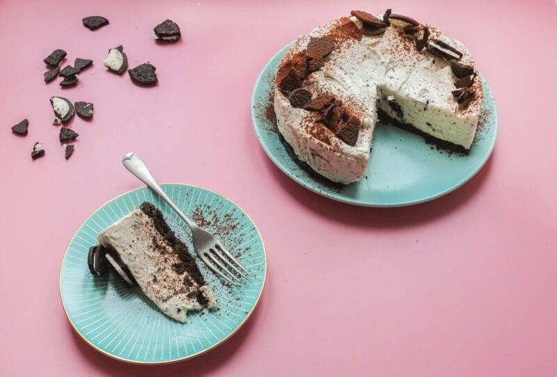 Decorated oreo cheesecake