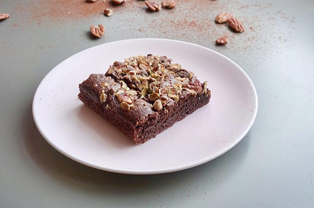 vegan brownie piece