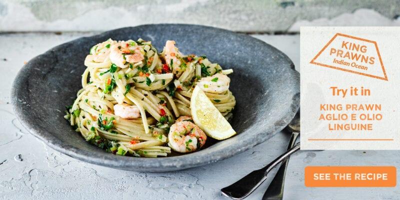 king prawn aglio e olio linguine recipe