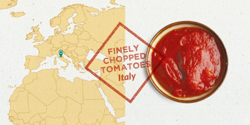 finely chopped tinned tomatoes ingredient