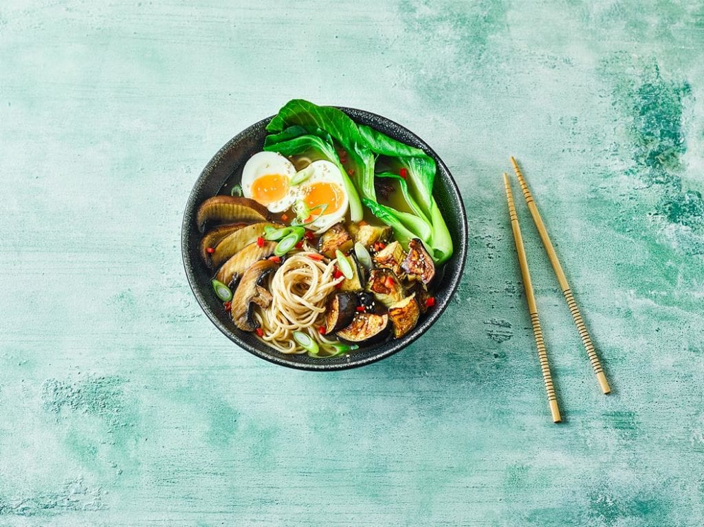 Dairy free Three Vegetable Miso & Sesame Ramen recipe