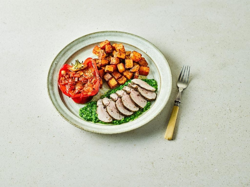 Dairy free Spanish Pork Tenderloin & Salsa Verde recipe