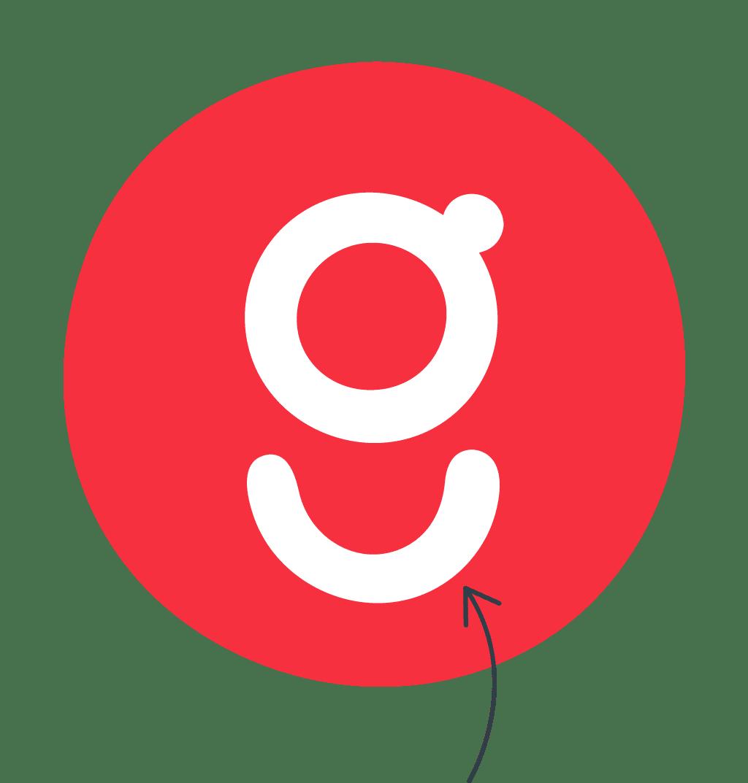 gousto icon with arrow