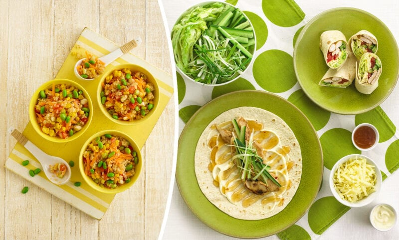 2 healthy lunchbox dishes for kids