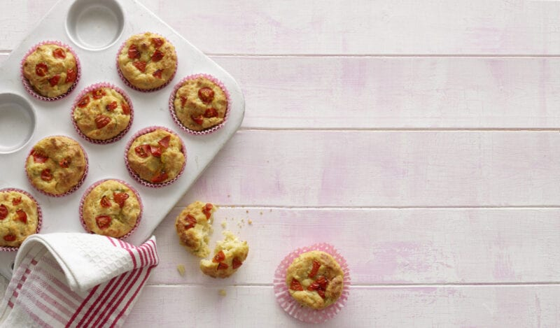 Annabel Karmel's Cheese and Cherry Tomato Muffins