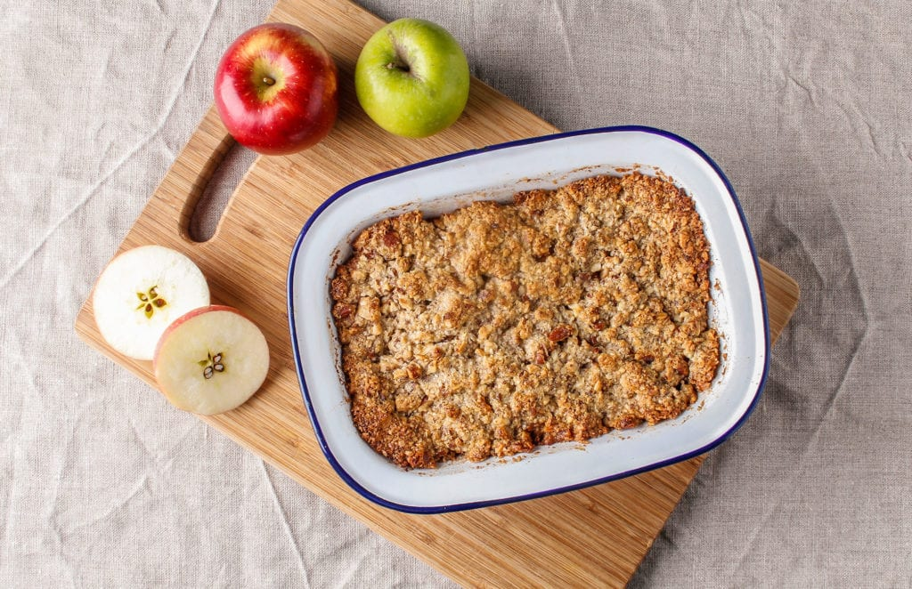 gluten-free apple crumble gousto