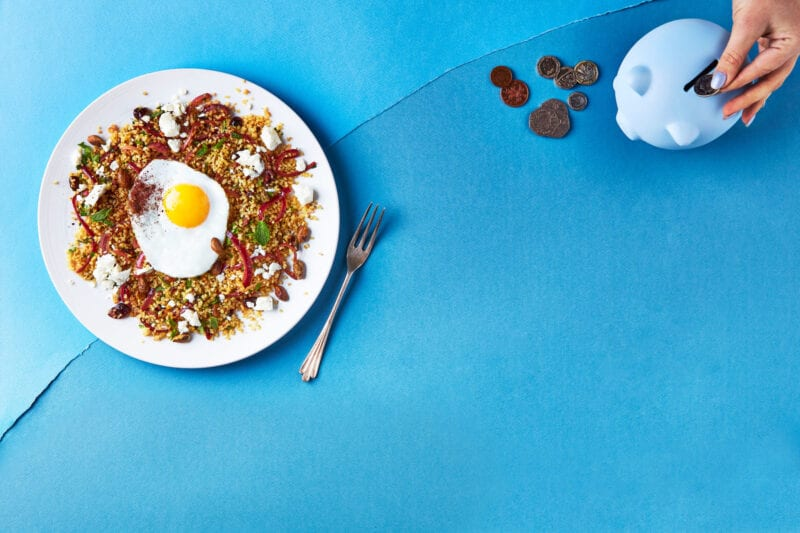 Persian Eggs With Jewelled Bulgur & Feta