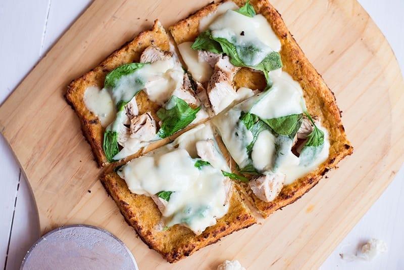 Comfort food cauliflower pizza
