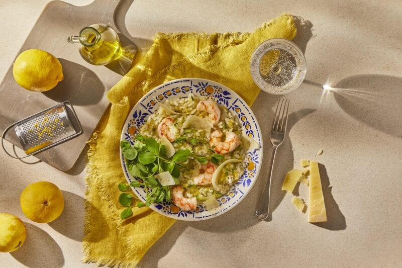 Gousto Amalfi Risotto with Jumbo Prawns