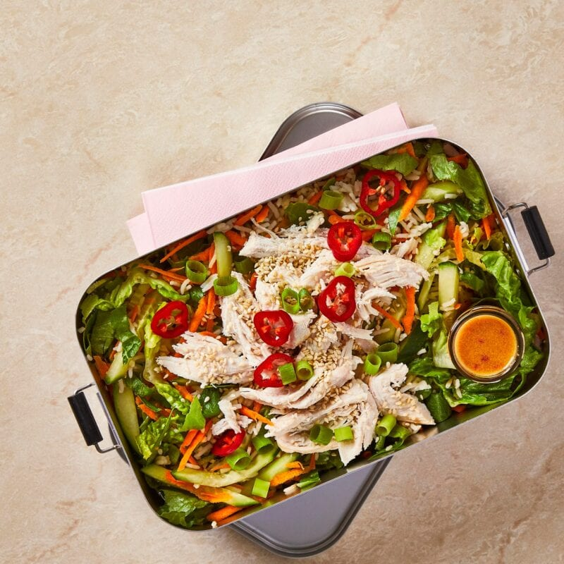 Gousto packed lunch box buddha bowl