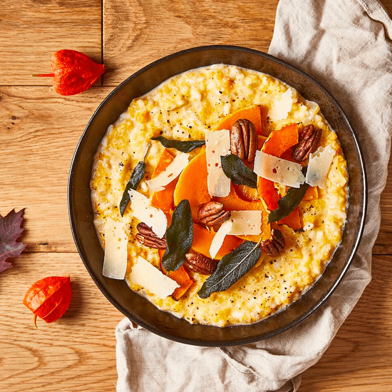 Roasted Squash, Pecan and Crispy Sage Risotto