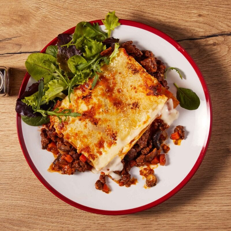 Beef Lasagne and side salad