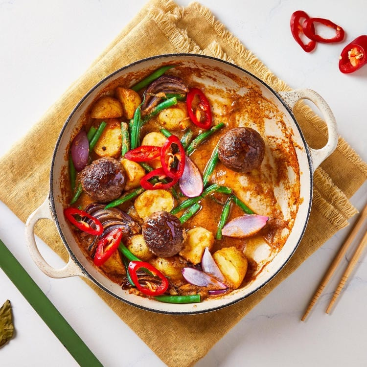 Thai Beef Meatball Massaman Bake