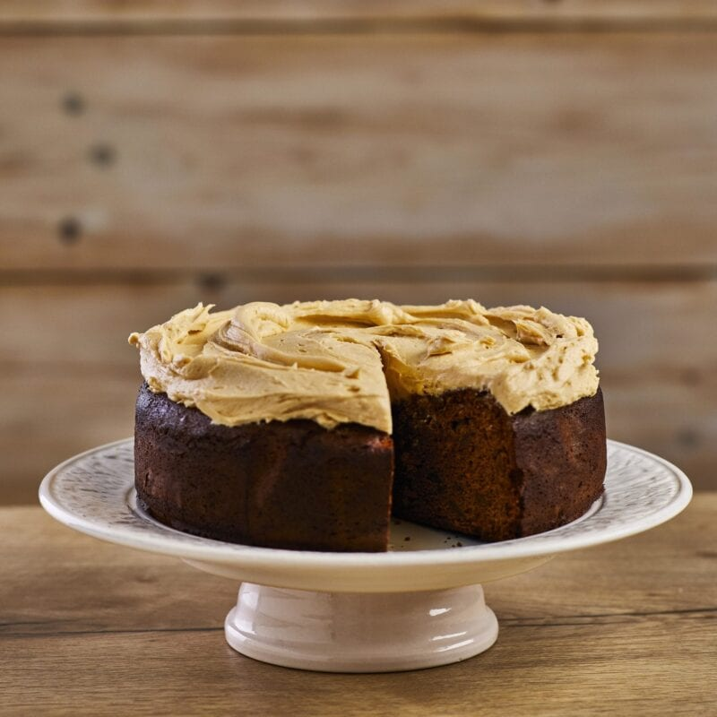 Gluten Free Ginger Cake and Salted Caramel Icing