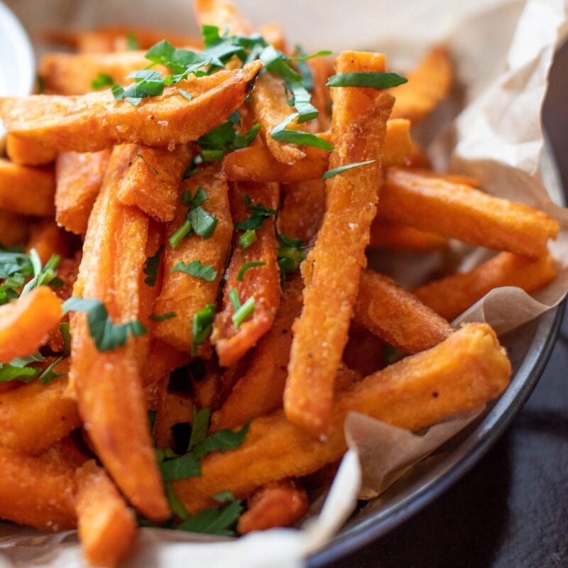 Gousto's healthy homemade snacks sweet potato fries