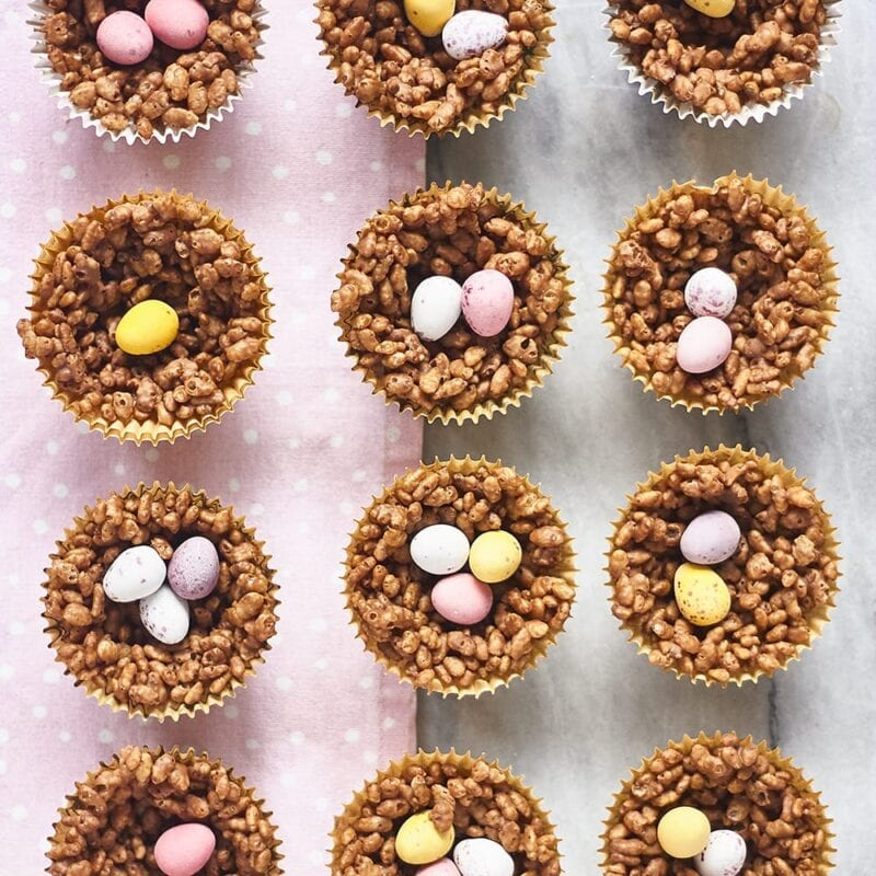 Chocolate Easter Egg Nest Desserts