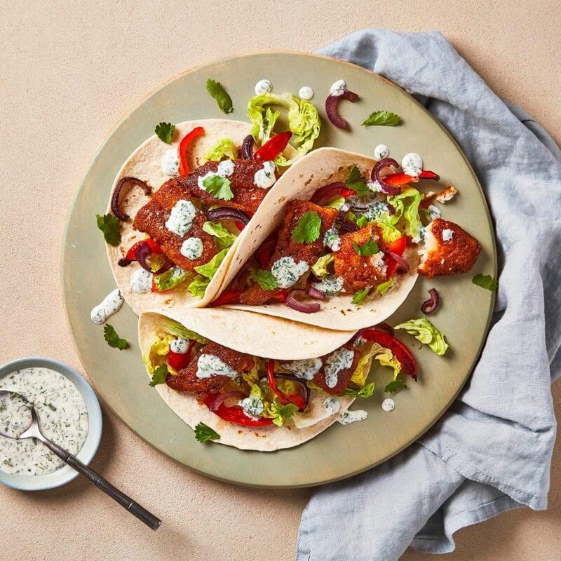 Baja-Style Fish Tacos With Coriander Mayo