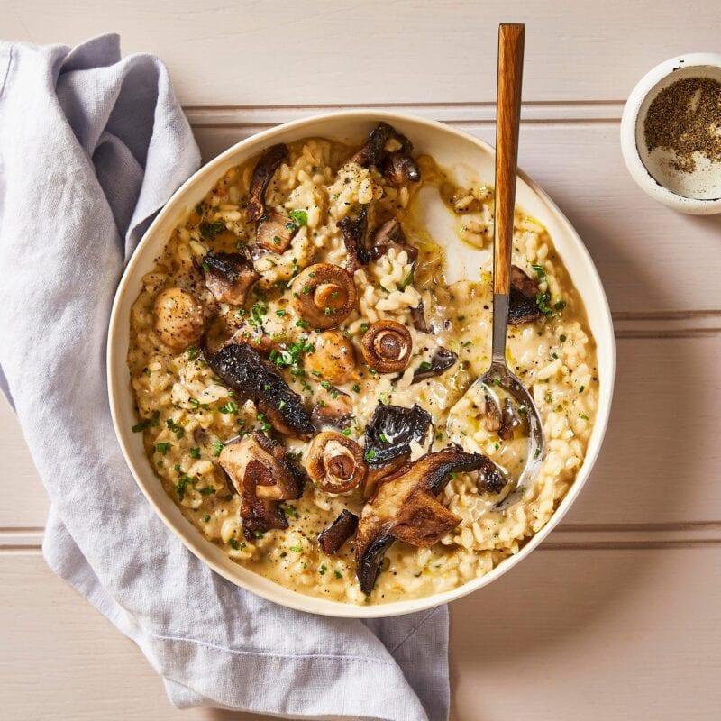 Creamy Two- Mushroom Risotto