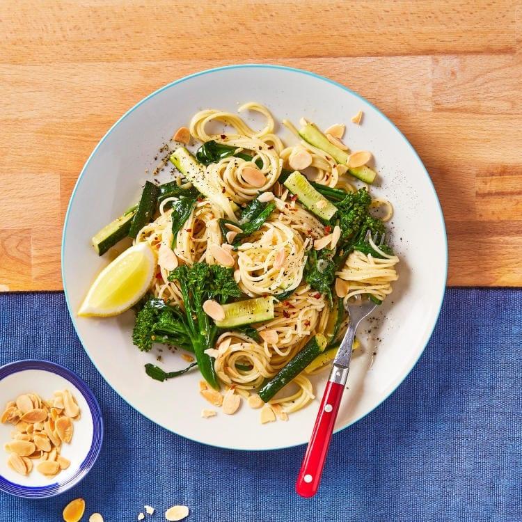 10 minute Bangin Chilli Garlic Tenderstem Broccoli Pasta Gousto