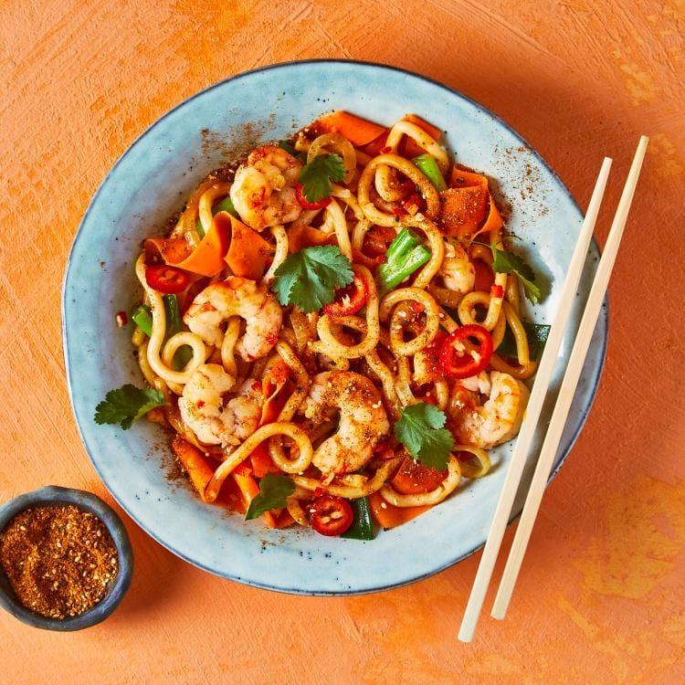 Spicy Jumbo Prawn Udon Gousto